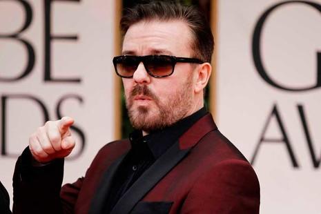 Los momentos más divertidos y escandalosos de Ricky Gervais en los Globos de Oro